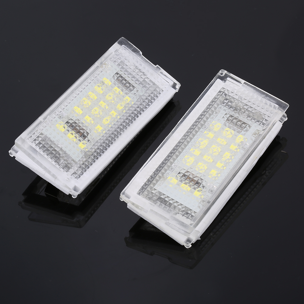 2Pcs 12V LED Number License Plate Light Lamps White Led CANBUS Car No Error Car License Plate Lights For BMW E46 4D 1998-2003
