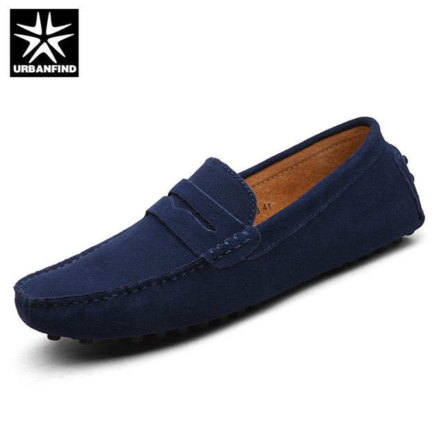 Men Loafers Shoes Casual Suede Leather Slip On Shoes