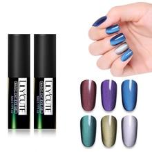 LILYCUTE 3D Cat Eye UV Gel Polish 5ml Magic Glitter Wide Line Soak Off Magnetic Nail Varnish Manicure DIY
