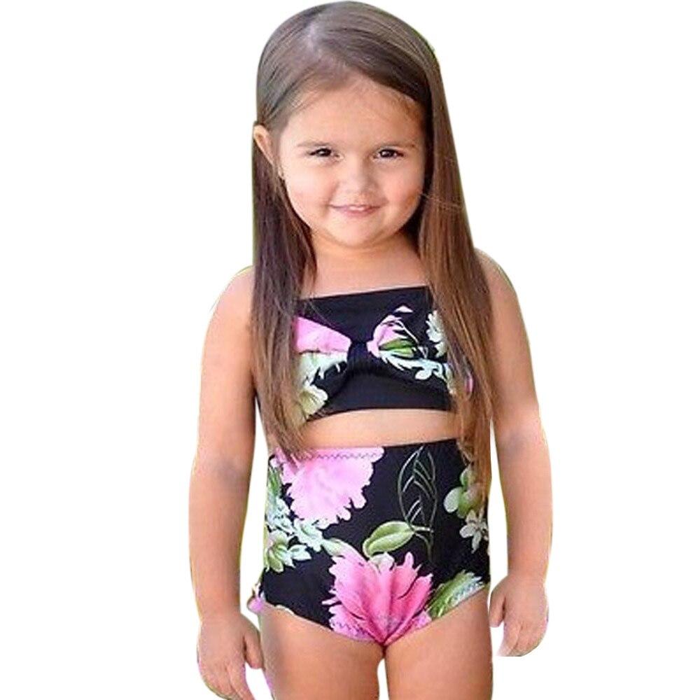 Children Bikini Set Swimwear Toddler Kids Girls Swimsuit ...