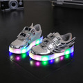 New wing children luminous sneaker baby shoes kids trainer running sport boy boot girl tenis all around LED girl boots