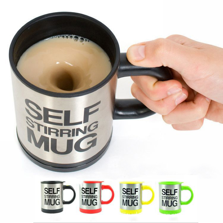 Automatische Küchenmaschinen kaffeemischbecher/becher blies edelstahl selbst rühren elektrische kaffeetasse 350 ml SECHS Farbe H-025