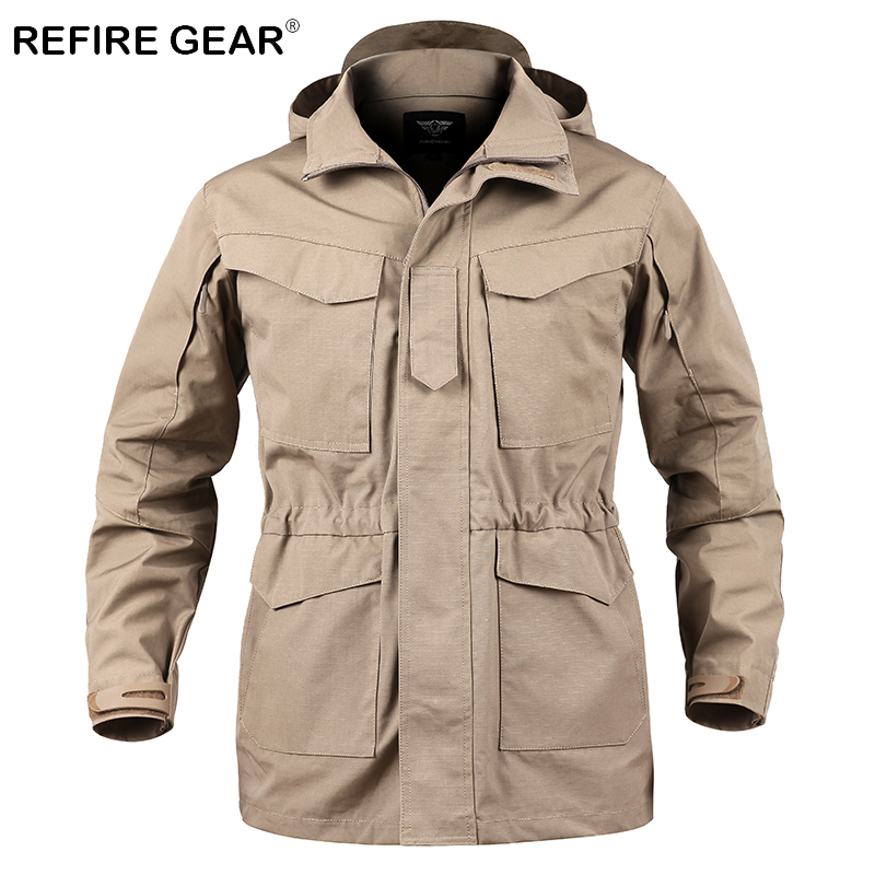 ReFire Gear Outdoor Camouflage Tactical Field Jackets Men Autumn Waterproof Military Jackets Male Hoody Army Windbreaker Coats