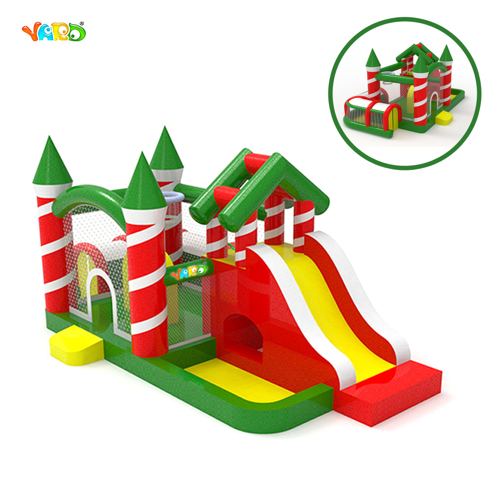 Christmas Inflatable Bouncy Castle Bouncer Trampoline for Party недорого