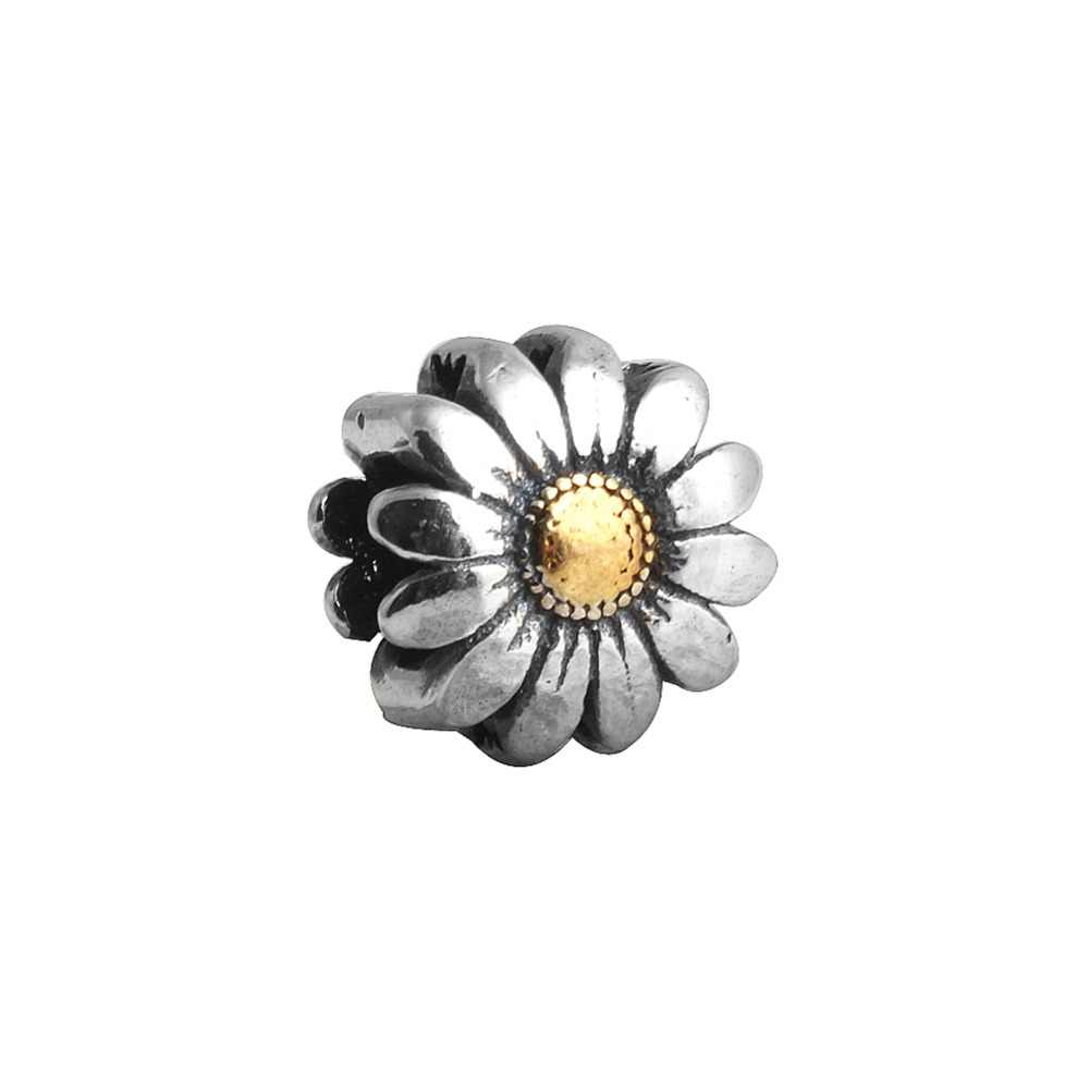 b2673cd01 ZMZY Authentic 100% 925 Sterling Silver Charm Wholesale Sunflower Beads  Fits Pandora Bracelet DIY Making