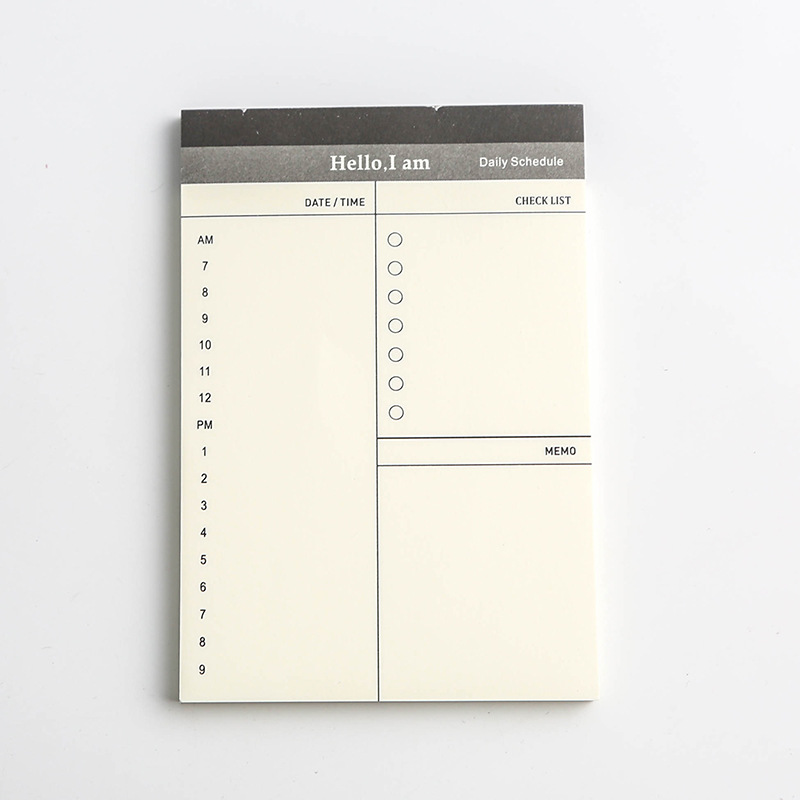 Creative Daily  To Do List Time Sticky Note Schedule Planner Stickers  3