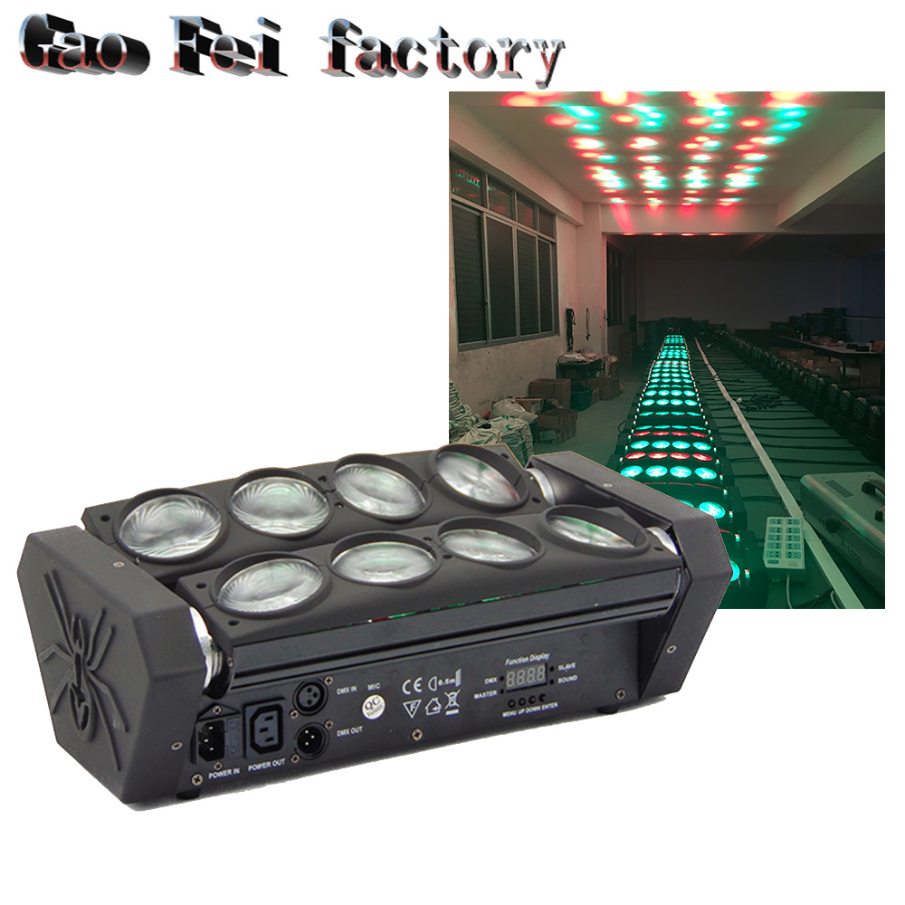 New Moving Head Led Spider Light 8x12W 4in1 RGBW Led Party Light DJ Lighting Beam Moving Head DMX DJ Light