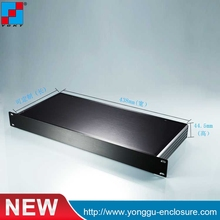 19 inch 1 u 482*44.5-200 mm deep rack mount chassis aluminum extruded 1u standard chassis for server