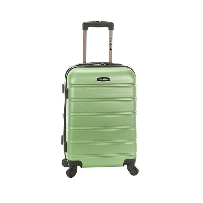Rockland F145-GREEN 20 in. Melbourne Expandable Abs Carry on Suitacse Green migos melbourne