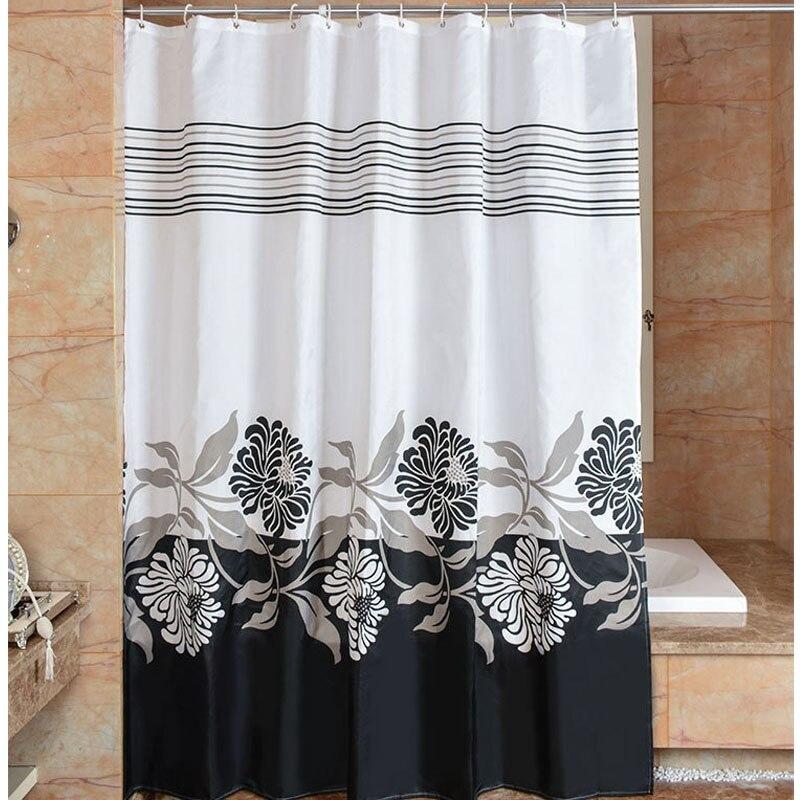 Duschvorhang Blumen Und Pflanzen Von Bad Drapieren Verdickung Wasserdicht Mouldproof PEVA Duschvorhänge