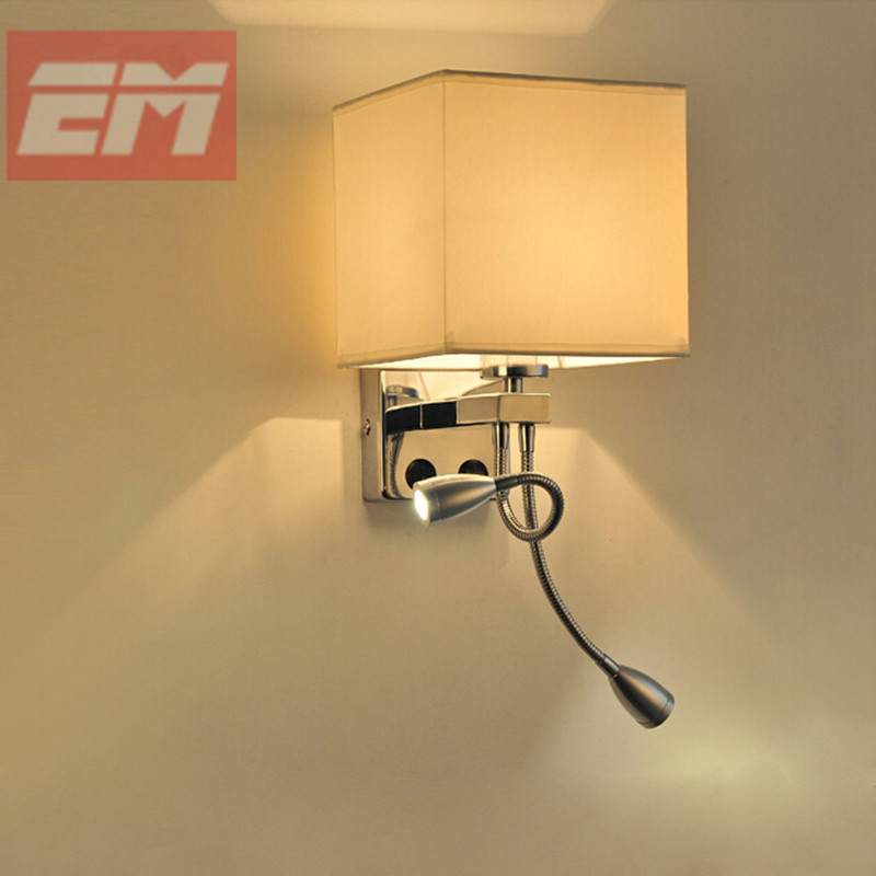 Unique design modern led cloth wall lamp wall sconce light for Led bedroom wall lights