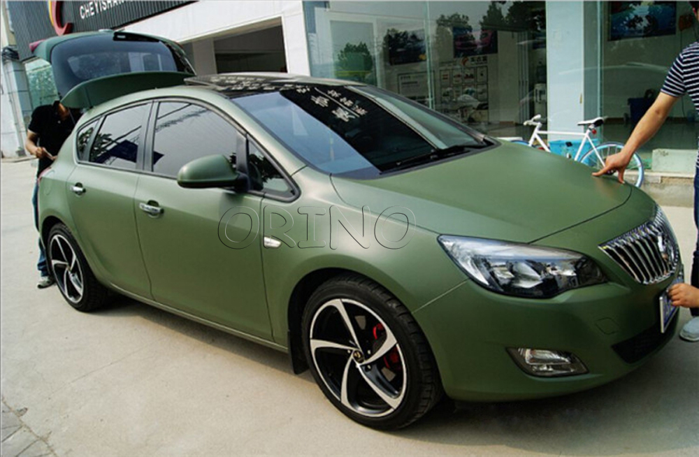 High Quality Matte Army Green Car Wrap Vinyl Film Matte Vinyl Wrap