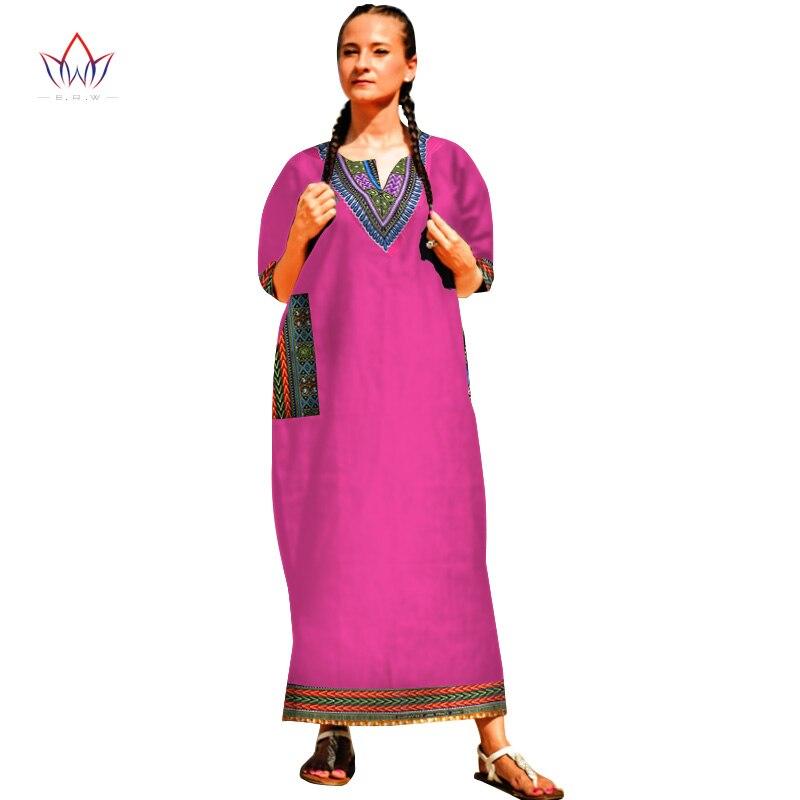 Ξ2017 bintarealwax marca vintage mujer dashiki vestido de impresión ...