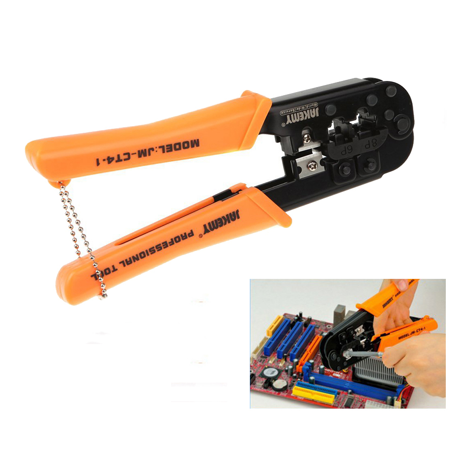 Multitool JM-CT4-1 6P 8P Ethernet Internet Cable Crimping Plier repair hand tools Wire Cutter Cutting Pliers tool kit new portable self adjusting crimping plier wire cable end sleeves ferrules cutters cutting pliers multi hand tools