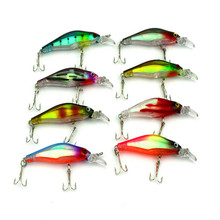 Hand Lure SeaKnight Minnow Plastic Fishing Lure Artificial Bait 82mm 6.3g 8 Color 3D Eyes Swimming Depth 0.0.5-1.5M 8#  Hooks