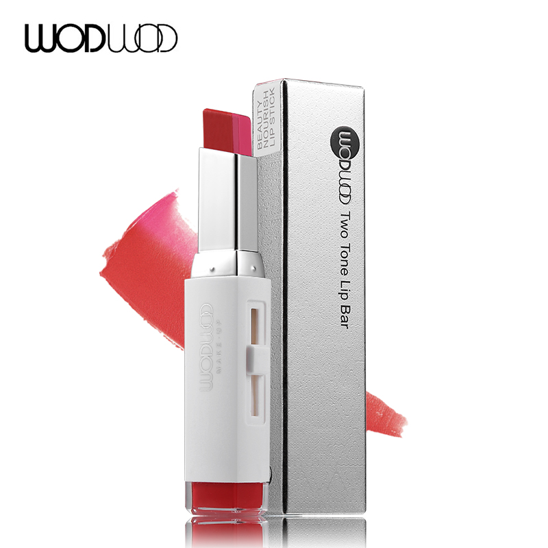 Wodwod Brand Lip Makeup Double Color 3D Lipstick Two Tone Lip Bar Lip Stick Pen Lip Pencil