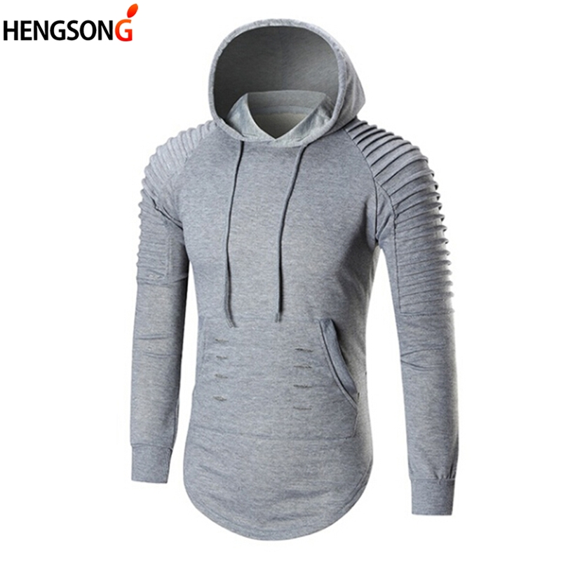 Men's Hoodies 2018 New Autumn Hoody Solid Color Long Sleeve Hooded Sweatshirt Mens Hoodie Tracksuit Casual Coat Pullovers