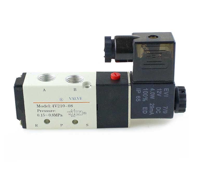 """Válvula de Solenoide neumática Aluminio de Aire DC12V 3V210-08 3 forma 2 posición 1//4/"""" Nuevo"""