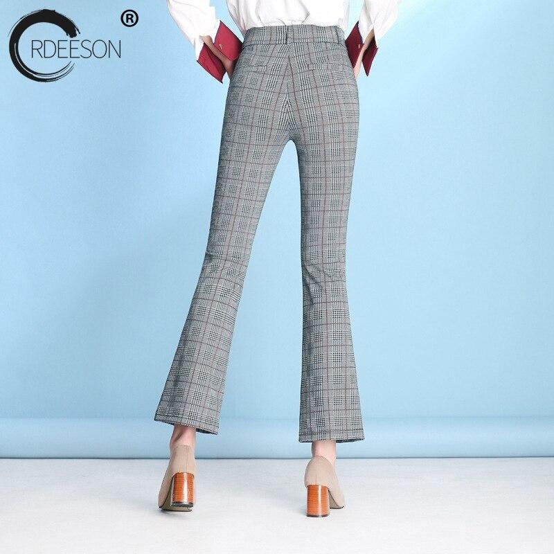 Pantalones Ordeeson Primavera Gris Tamaño 2018 6xl Cintura Mujer Bell Más Ropa Moda Alta Flared Campana Bottom 5xl Guinga RRwAx4qUE