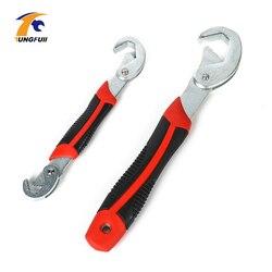 Tungfull ferramenta de mão ajustável cabeça soquete chave polido cromo chave combinação conjuntos