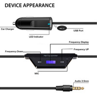 Univeral Wireless Car MP3 Player FM Transmitter Radio Adapter Bluetooth Handsfree Car Kit With Hand Free