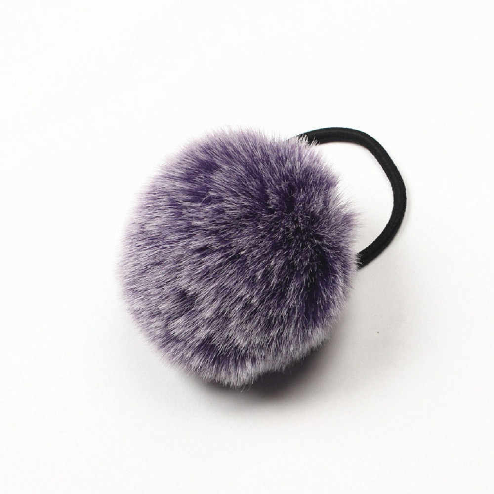 Cheap Price 2017 New Desgin 1PX Rabbit Fur Hair Band accessories for women girls Elastic Hair Bobble Pony Tail Holder headbands