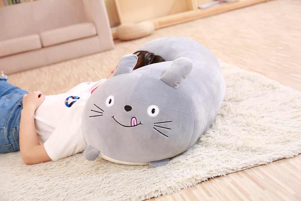 Lembut Hewan Gambar Kartun Bantal Plush Kawaii Lemak Anjing Kucing Totoro Penguin Babi Katak Boneka Hewan Indah Anak Ulang Tahun hadiah