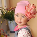 2015 NEW Baby Hat Newborn Girl Cotton Beanie Cap Peony Flower Infant Spring Hat 12 Colors Children Accessories Retail 0-3 months