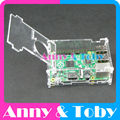 Model F4:Raspberry PI 3 model B Clear Transparent Acrylic Case Cover Shell Enclosure Housing ABS Plastic Box for Ras pi 2 and B+