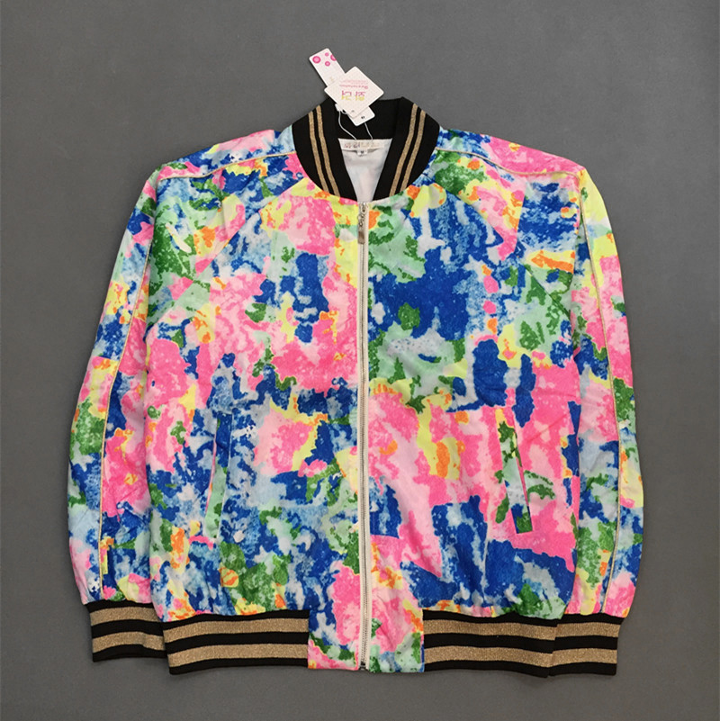 Kpop Floral <font><b>Bomber</b></font> <font><b>Jacket</b></font> Unisex 2017 Satin Fabrics Stand Collar Quilted Varsity Uniform Free Shipping