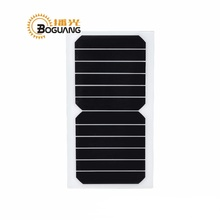 Xinpuguang 10pcs 6W 6V 1A Solar Panel Portable High Efficiency Quality Cell PET Mono Cell Module Transparency Solar Charger