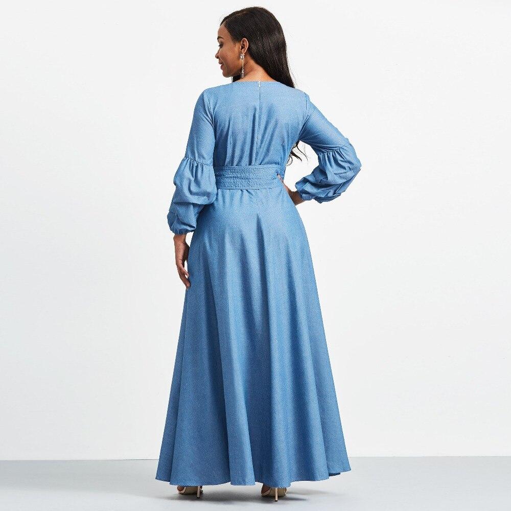 69d270c52945 Aliexpress.com : Buy Women long Dresses Winter Autumn Long Sleeve Maxi  Dress Elastic round collar Dress Plus Size Ball Gown belts Elegant Woman  Dress from ...