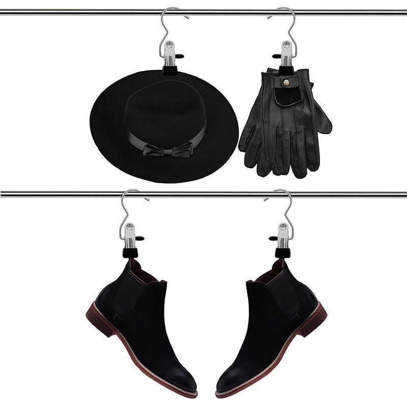 1 ADET Paslanmaz Çelik Boot Askı Klip Perde Tutucu Çamaşır Kanca Asılı Giysi Pin Ev Askıları Aksesuarları Havlu Klip