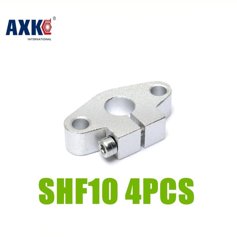 2017 Limited Special Offer Rodamientos Bearing Axk 4pcs/lot Free Shipping Shf10 10mm Shaft Support Linear Rail Cnc Router Xyz линейный подшипник rdb 4pcs shf10 10 cnc xyz