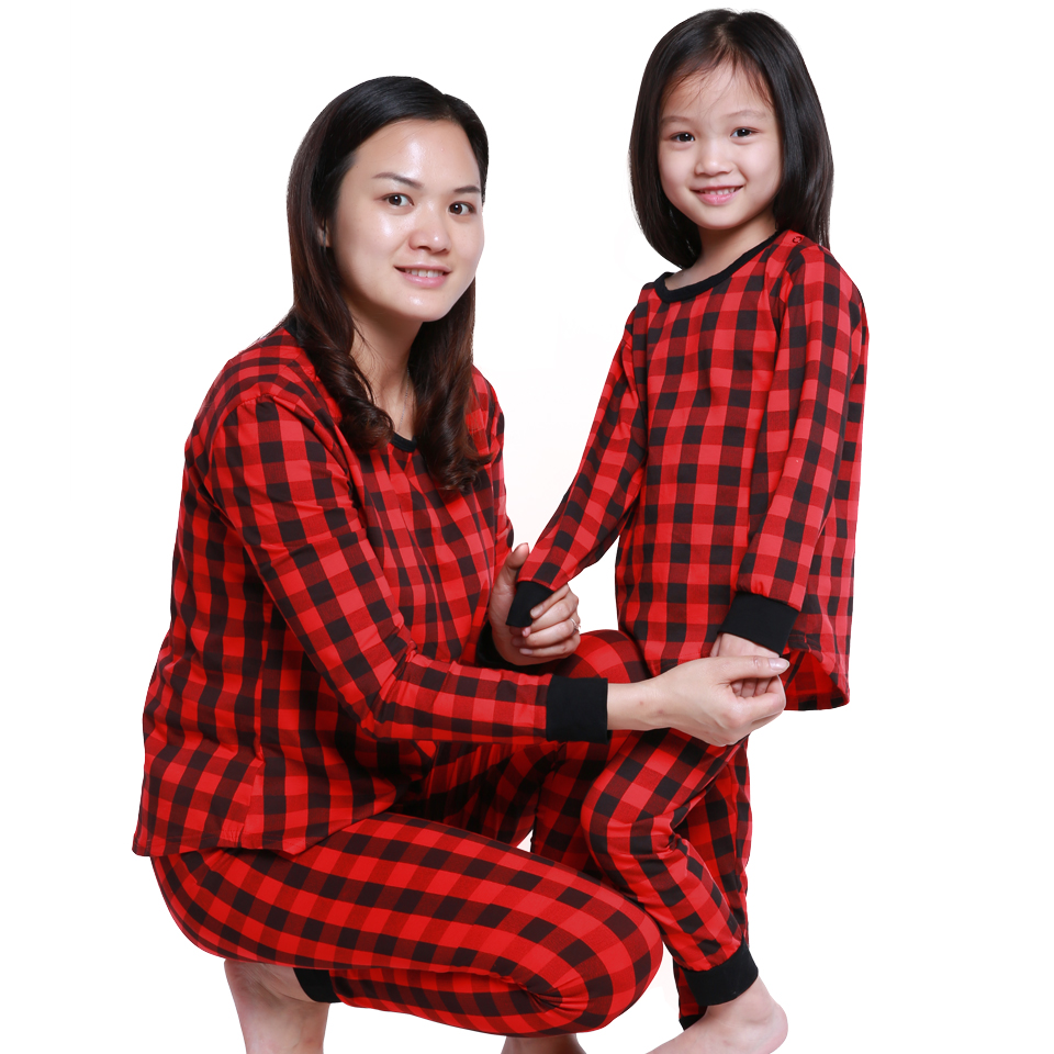 cospot mom and daughter plaid christmas pajamas mather and kids winter nightwear set family matching sleepwear clothing set 45f in matching family outfits - Plaid Christmas Pajamas