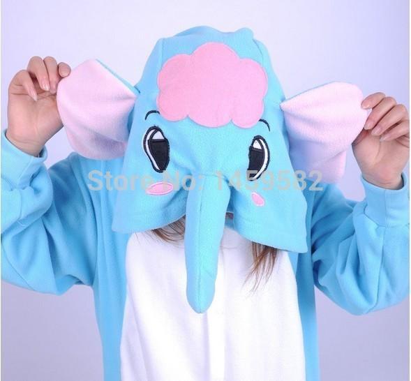 free shipping instylesAnime Onesie Sleepwear Cosplay Costume elephant Pajamas Adult Pyjamas Party costume ...