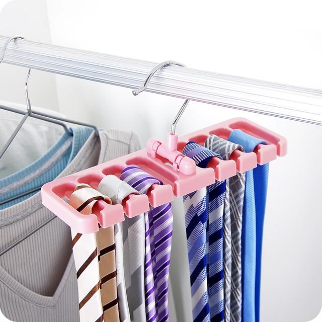 Vanzlife Creative Belt Storage Racks Multi   Functional Scarves Tie Pallets  Belt Shelves Home Racks Finishing