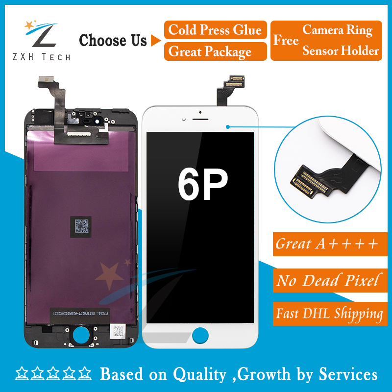 10PCS LOT Alibaba China No Dead Pixel for iPhone 6 plus LCD Display 5 5 With