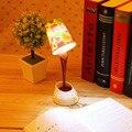 Criativo diy xícara de café abajur levou para baixo lâmpada da noite para casa usb bateria derramando luz mesa para sala de estudo quarto decoração