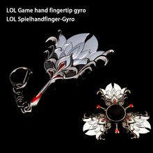LOL Games Hand Action Alloy Fidget Hand Spinners Top Spinner of Autism and Toys Long Spin Time ADHD Fidget Spinner Anti Stress E three blade alloy abs fidget spinner