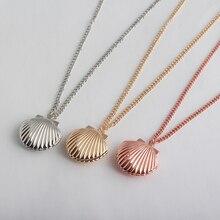 Creative Mermaid Shell Pendant Necklace