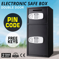 33 Strong Iron Larger Digital Keypad Security Box W/ Safe Lock Money Jewelry