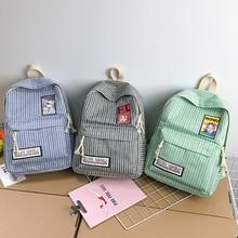 Korean Harajuku ulzzang High School Students Joker Simple Campus Wind Canvas Schoolbag Female Mori Backpack