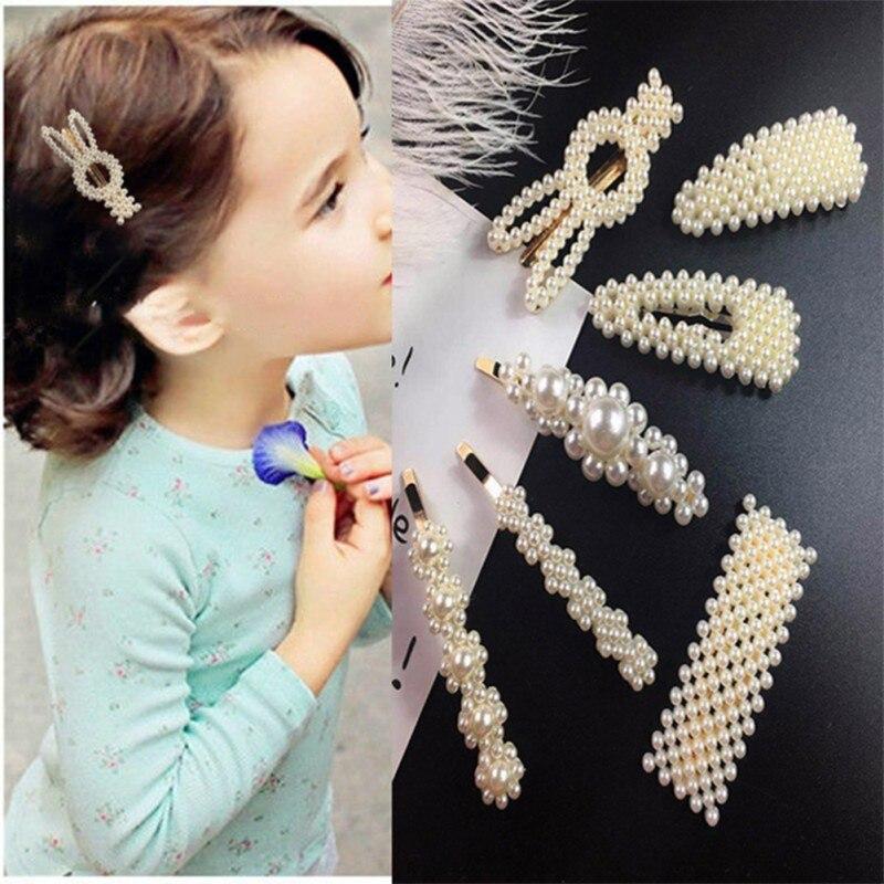 Girls Hair Clips Cute Pearl Hair Pin Children Hairpin Princess Hair Accessories 3-16T Toddler Girls Lovely Hair Clip
