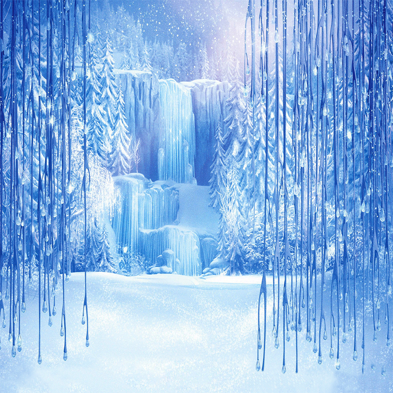 5x7ft vinyl cloth photography backdrops children fotografia frozen waterfall falls backgrounds - Beautiful frozen computer wallpaper ...