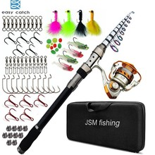 Easy Catch Carbon Fiber Telescopic Spinning Fishing Rod Combo with Metal Reel Fishing Gear for Sea Saltwater Fishing цена