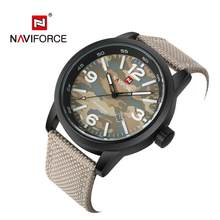 NAVIFORCE Watches Men Fashion Casual Brand Nylon Military Men's Watch Waterproof Quartz Wristwatches Dive Relogio Masculino 2019(China)