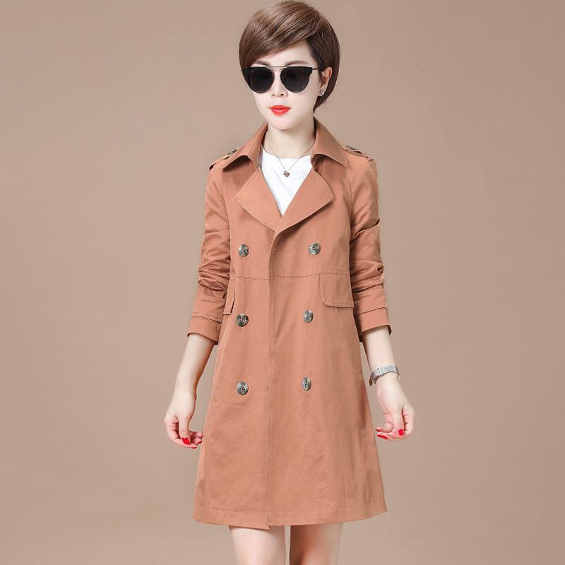 Turn Double Femmes 2019 Coupe Mode Femme Trench Slim Breasted Col PXOklwTZiu