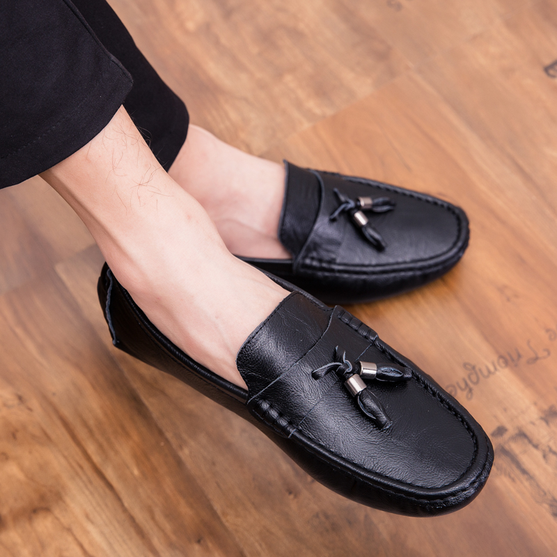 Men Loafers Shoes outdoor Italy Oxfords Business Dress Boat Shoes Formal Oxford Men Flat Shoes Wedding party shoes p4 35