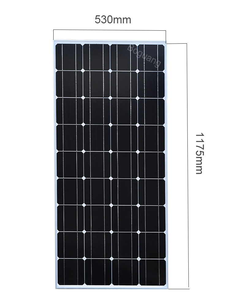 BOGUANG Solar Panel China 100W Monocrystalline Silicon 18V 1175x530x25MM Size Top quality Solar battery House Solar Power China